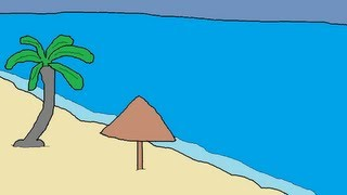 How to Draw a Beach (Easy and Quick)