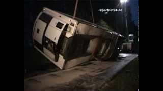 LKW-Unfall auf L17 bei Oberkrämer - Oberhavel
