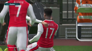 PES 2017 - That Time Iwobi Ran Through Mark's Entire Defence