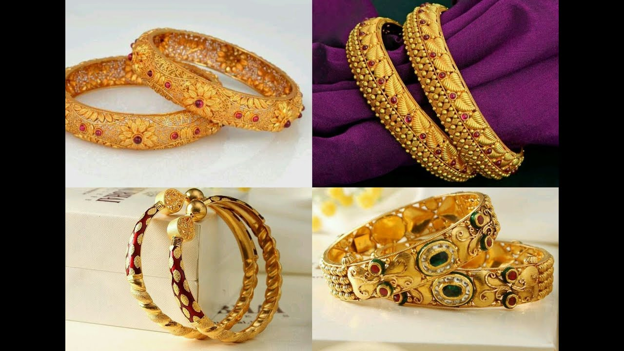 Latest Gold Bangles Designs || South Indian jewellery Designs - YouTube