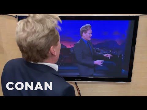 Conan Watches Himself On TV  - CONAN on TBS