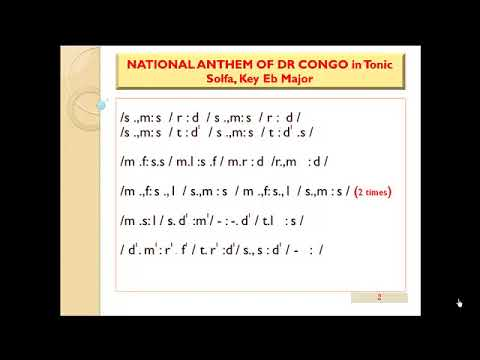 DR Congo National Anthe in Tonic Solfa