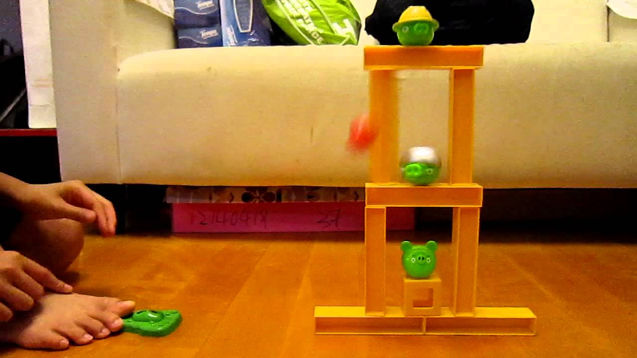 Angry Birds Knock on wood Copycat kill all pigs with one shot