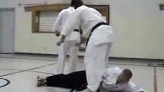 Kyokushin Karate student breaks 2 baseball bats