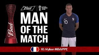 Kylian MBAPPE (France) - Man of the Match - MATCH 21