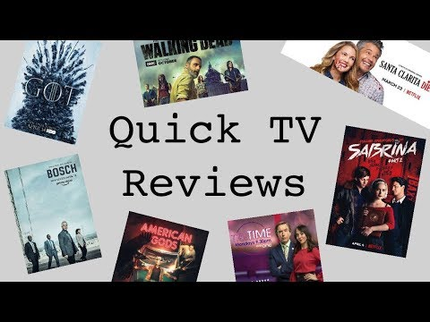 Quick TV Reviews (Bosch, The Walking Dead, Game of Thrones and more!)