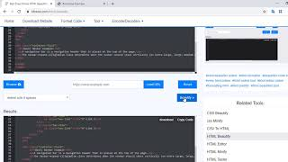 Free Online HTML Beautifier / Formatter