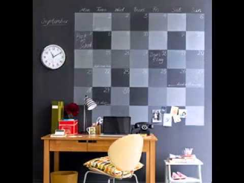 Office wall decorating ideas youtube for Wall art ideas for office