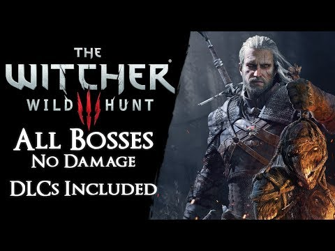 The Witcher 3 - All Bosses On Death March【No Damage, Signs*, Potions, Bombs, Buffs, Crossbow, Armor】