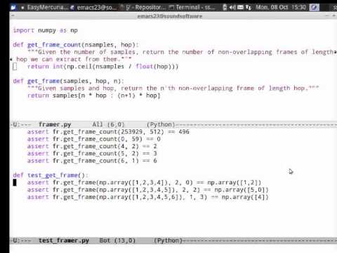 SoundSoftware at ISMIR: Python example