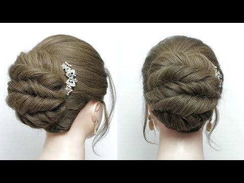 Easy Twisted Updo For Long Medium Hair