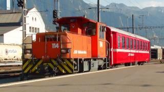 [HD]Traktor Tm 2/2 der Rhätischen Bahn RhB
