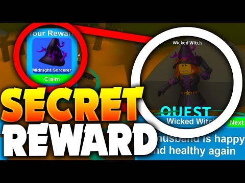 COMPLETING ALL WITCH UPDATE QUESTS (SECRET REWARD!) - Roblox Mining Simulator (Halloween Update)