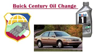 Buick Century Oil Change - Howto replace oil filter - 2003 2002 2001 2000 2005 2004 01 02 03 04 05