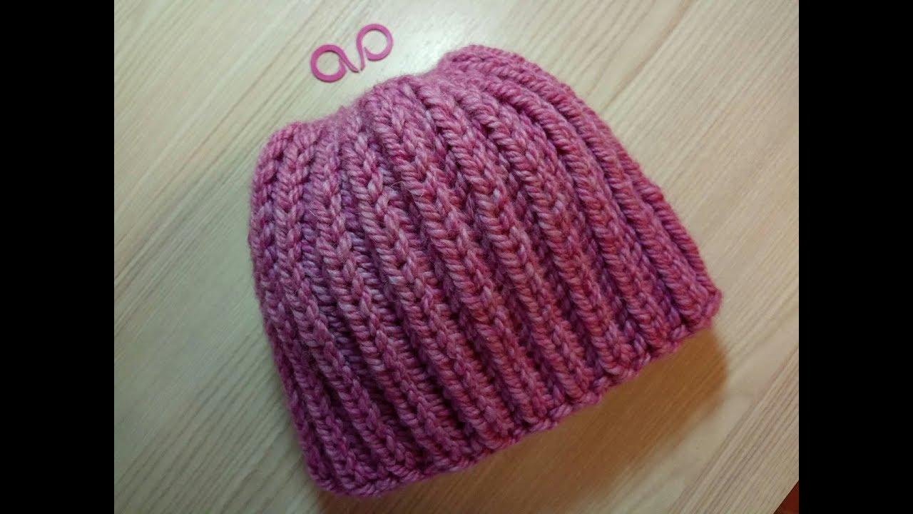 Женская шапка английской резинкой спицами схема фото 202