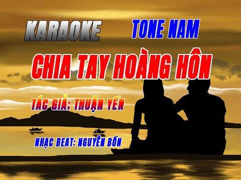karaoke chia tay hoàng hôn tone nam