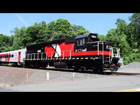 Amtrak, CT Rail, and CSOR on the Springfield Line, 6/12/18 **CROSSING MALFUNCTIONS**