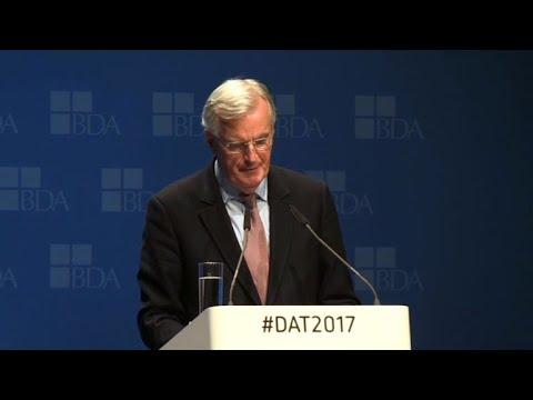 Barnier says hopes for deal on Brexit divorce bill 'next week'