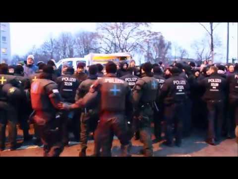 11.  Februar in Dresden Blockaden und Gegendemonstrationen