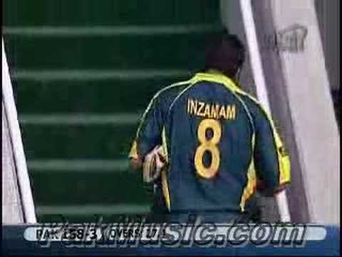 InzamamulHaq Walks From The Field For The Last Time