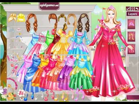 barbie princess dresses up games