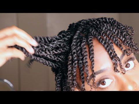 How To Mini Twist On Short Natural 4b 4c Hair Gloria Ann Youtube