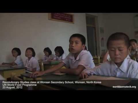 Children in hospital, school in Wonsan, North Korea