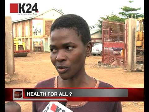 Korogocho slum residents in need of healthcare