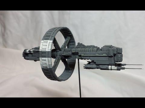 Scratch built styrene sci-fi spaceship 3