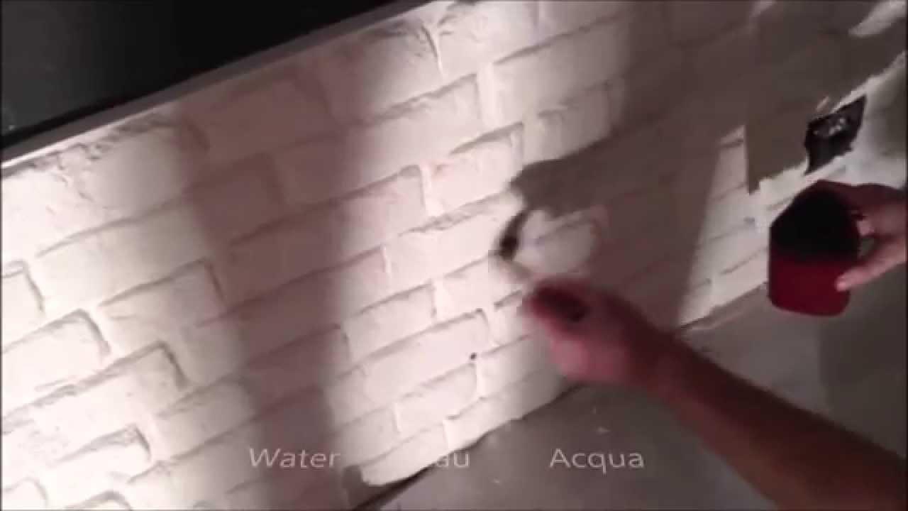 Peindre Des Plaquettes De Parement parement en plâtre imitation briques - youtube