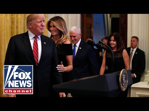 Trump speaks at White House Hanukkah reception