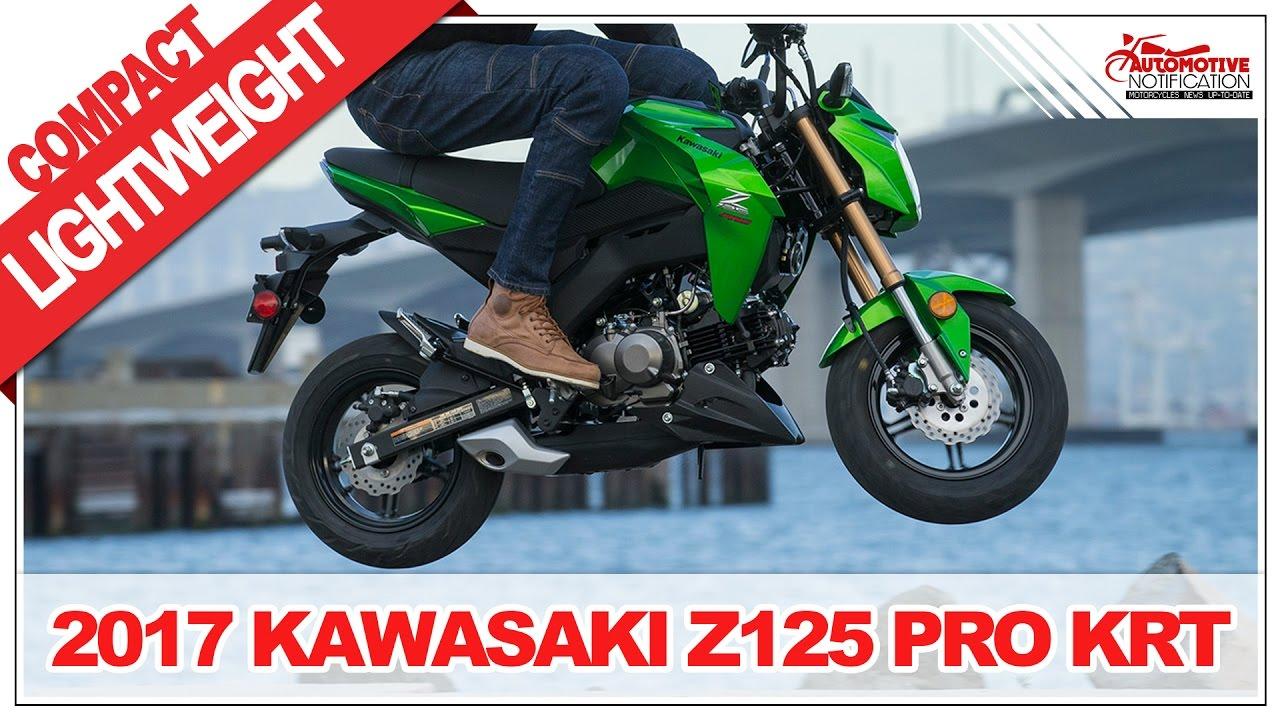 Stylish Fun 2017 Kawasaki Z125 Pro Krt Price Specs Review Youtube