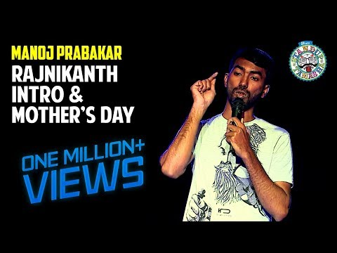 Rajinikanth Intro and Mothers Day | Stand-up comedy by Manoj Prabakar