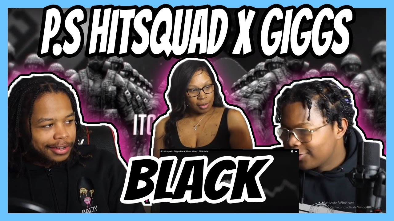 Download P.S Hitsquad x Giggs - Black [Music Video]   GRM Daily REACTION