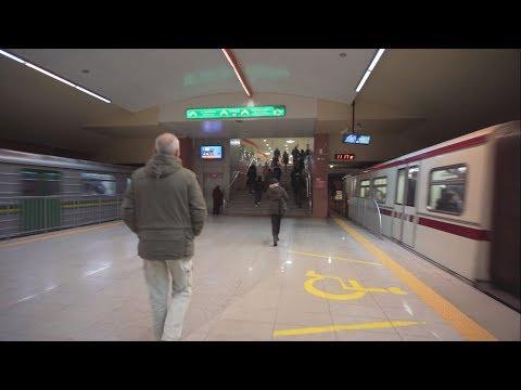 Bulgaria, Sofia, metro ride from Сердика II to Национален дворец на културата