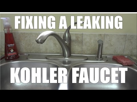 Fixing Leaking Faucet By Replacing The Oring And Cartridge From Kohler Forte