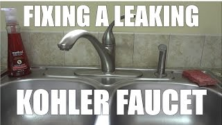 Fixing a leaking faucet by replacing the o'ring and cartridge from a Kohler Forte