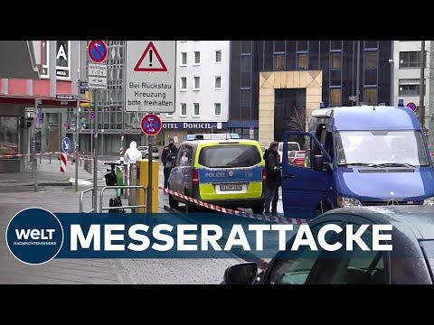 BLUTTAT in FRANKFURT: Mann sticht mehrere Passanten wahllos nieder - Schwerverletzte