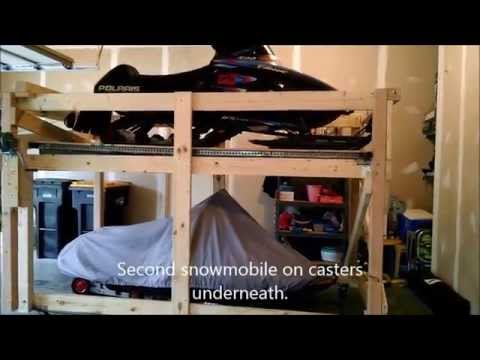 Vertical Snowmobile Storage Solution Youtube