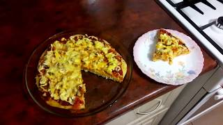 Пицца в микроволновке. Готовим быструю пиццу.