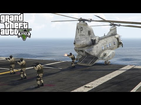 GTA 5 Military Mods Patrol #7| Live Stream | Navy & Marines Take Out Merryweather Security Cave Base
