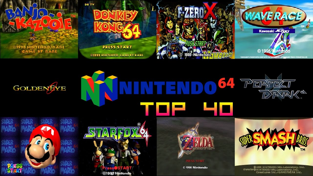 Nintendo 64 N64 Top 40 Games Youtube