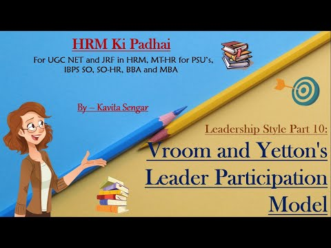Leadership Style Part 10 : Vroom And Yetton's Leader Participation Model