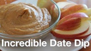 Incredible Date Dip Recipe - Like Mock Peanut Butter - Low Fat Raw Vegan No Nuts