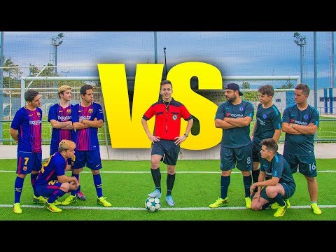 BARCELONA VS CHELSEA 4vs4 | PARTIDO FÚTBOL [Crazy Crew]