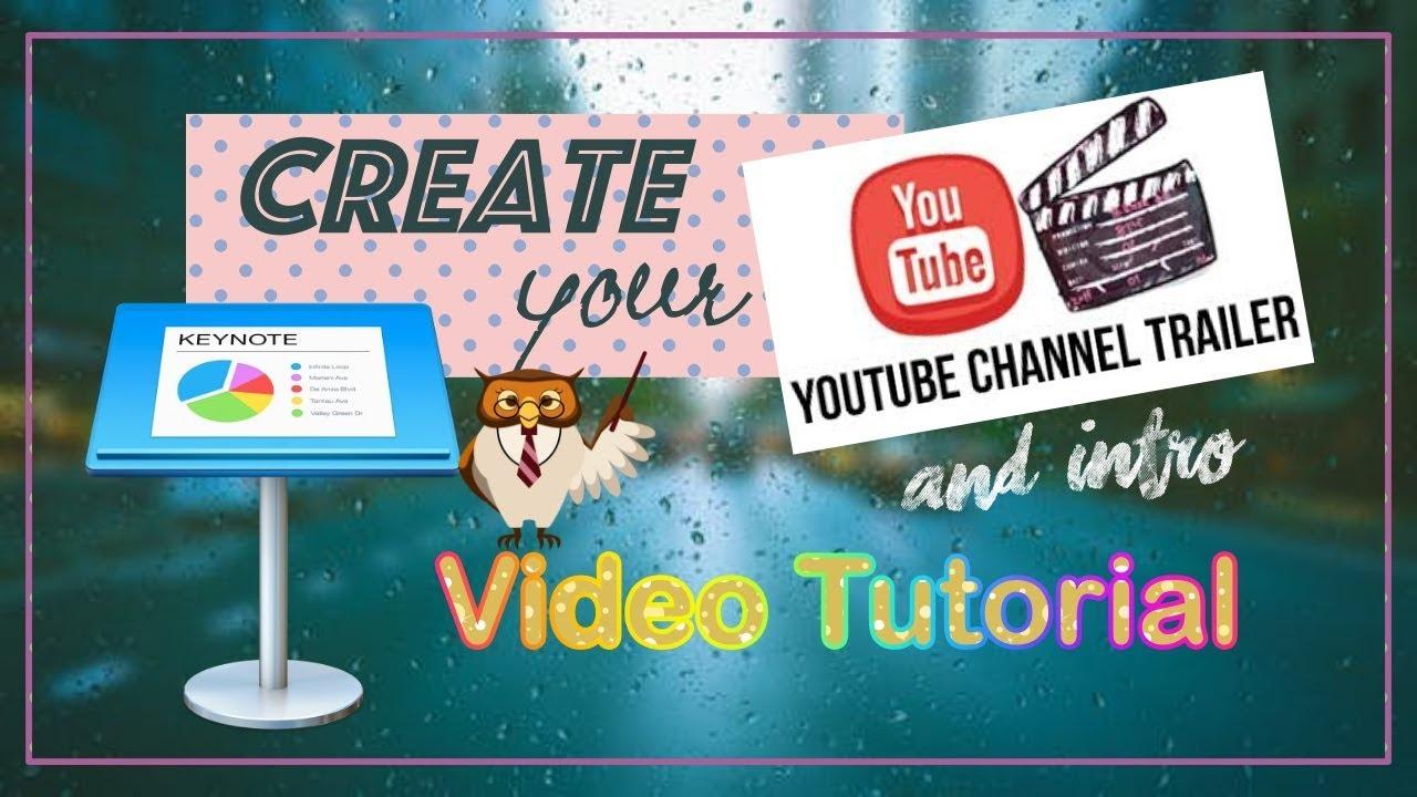Keynote youtube intro tutorial easy youtube.
