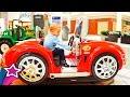 Cute Boy Rides Children Cars at Shopping Mall Fun Kids Car Rides Kids videos Max Playing