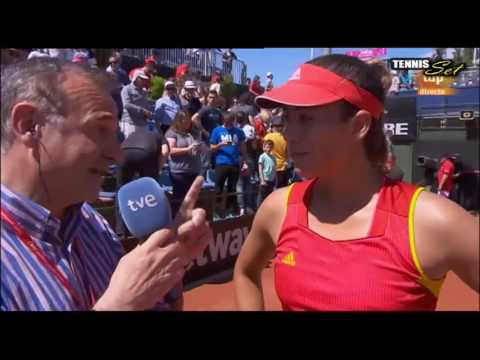 [HD] Garbine Muguruza vs Francesca Schiavone Interview HD Fed Cup Spain 2016
