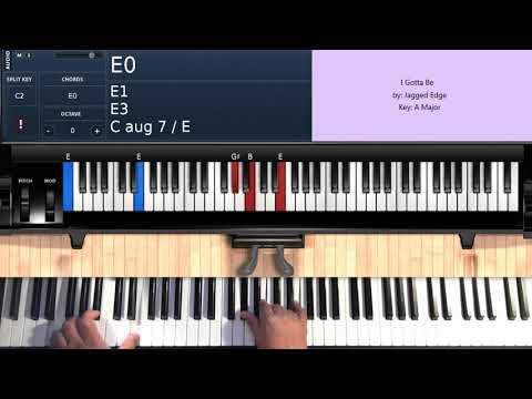 I Gotta Be  Jagged Edge  Piano Tutorial