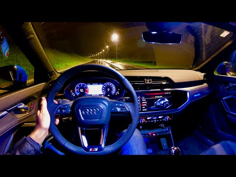 New Audi A4 2020 S Line Night Pov Test Drive Nice Ambient Lighting 35 Tdi 163 Ps Youtube